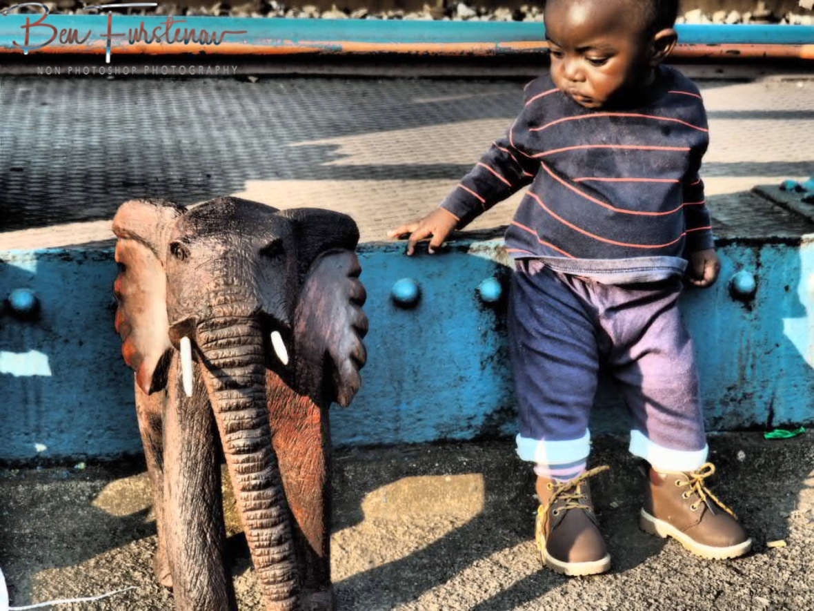 Not sure about this wooden elephant, Livingstone, Zambia