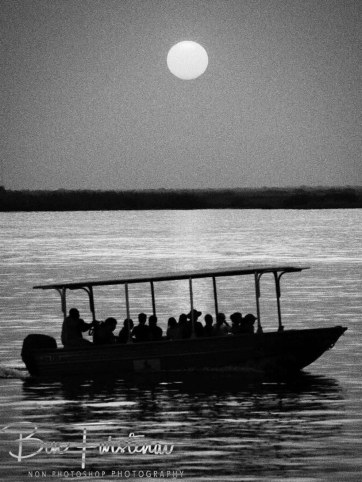 Tourist hotspot,, Chobe River, Okavango Delta, Botswana