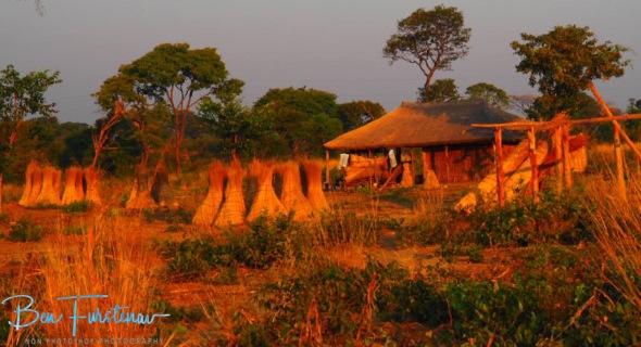 Typical housing near Lukulu, Zambia