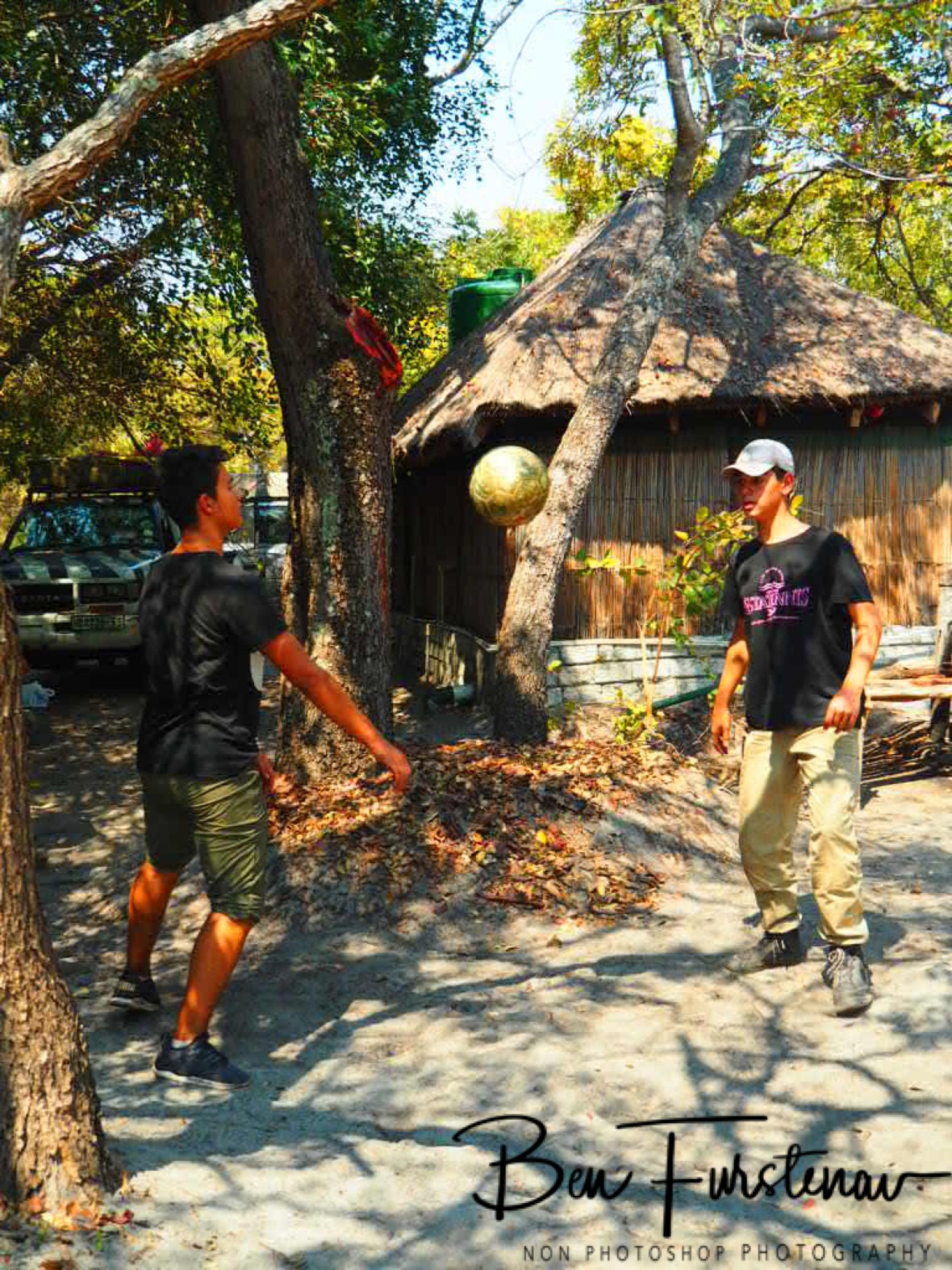 Always time to kick the Ball around, Liuwa Plains National Park, Zambia