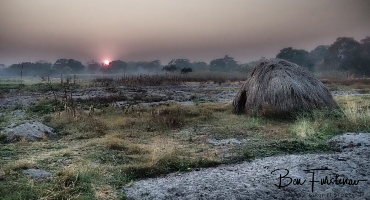 Early morning sunrise st Liuwa Plains National Park, Zambia