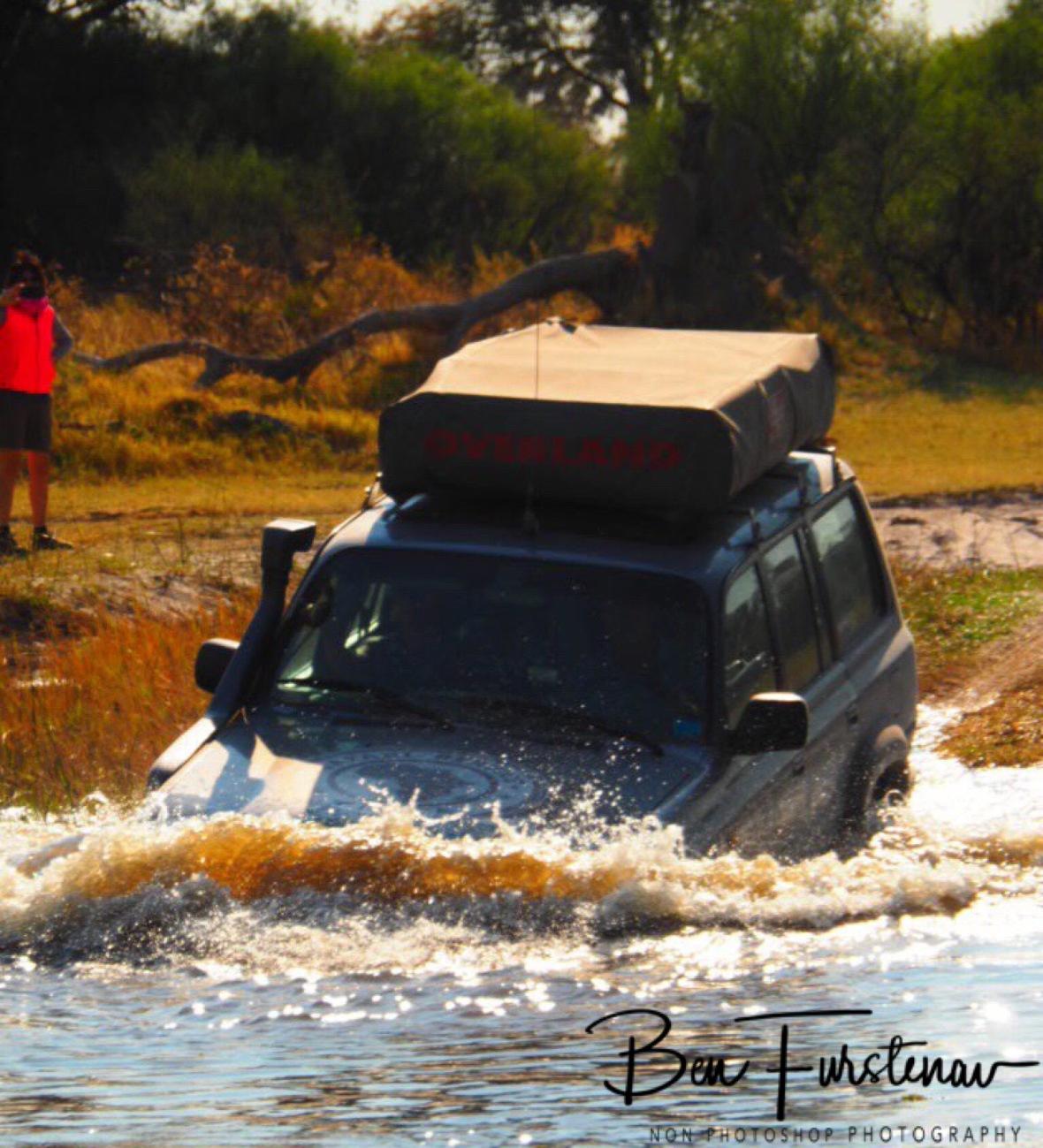 Giancarlo action man, Kwai Region, Okavango Delta, Botswana