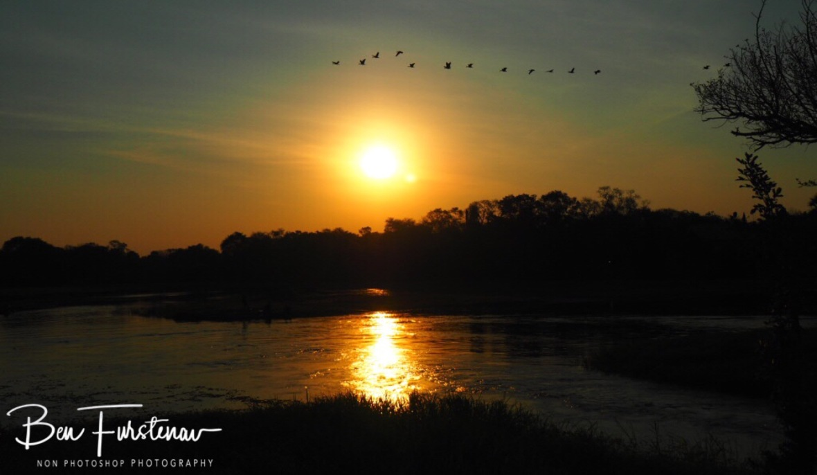 Sunset over the Thamalakane River, Maun, Botswana