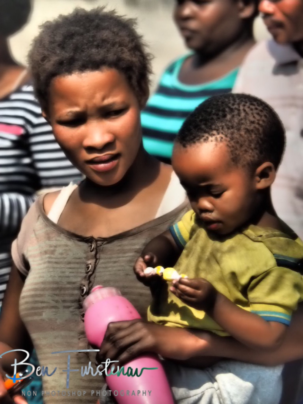 Sceptical mom about sweets? Kalahari desert, Botswana