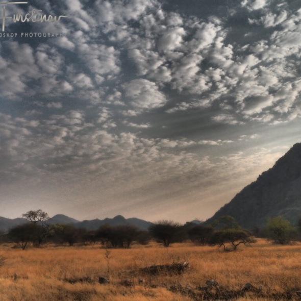 Tsolido Hills from a distance, Kalahari desert, Botswana