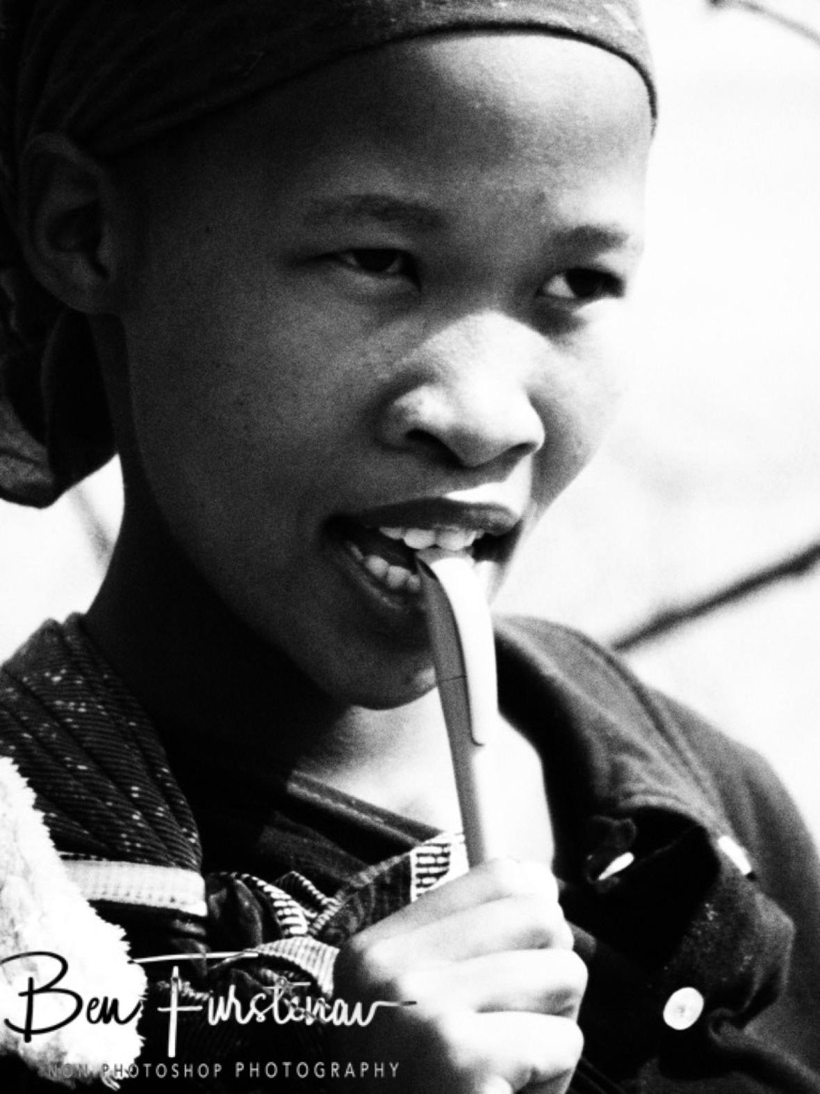 Ball pen usage, Kalahari desert, Botswana