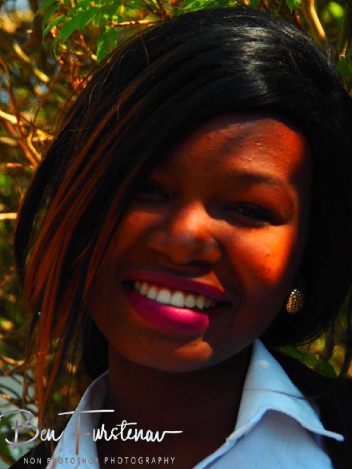 Nina's smile, Maun, Botswana
