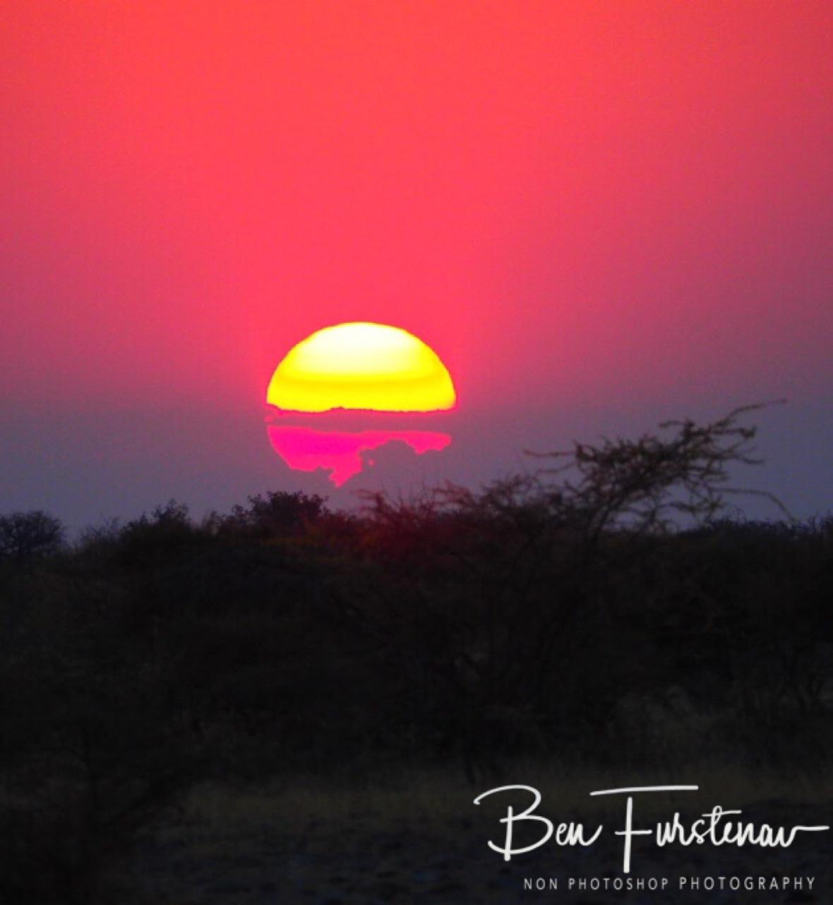 Rainbow sun, Botswana, Makgadikgadi Salt Pans