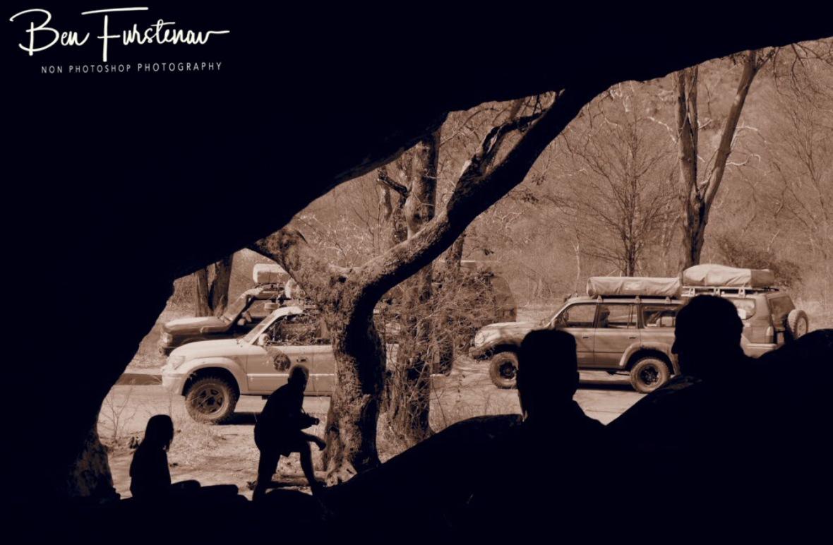 Italian  Cavemen, Tsolido Hills, Kalahari desert, Botswana
