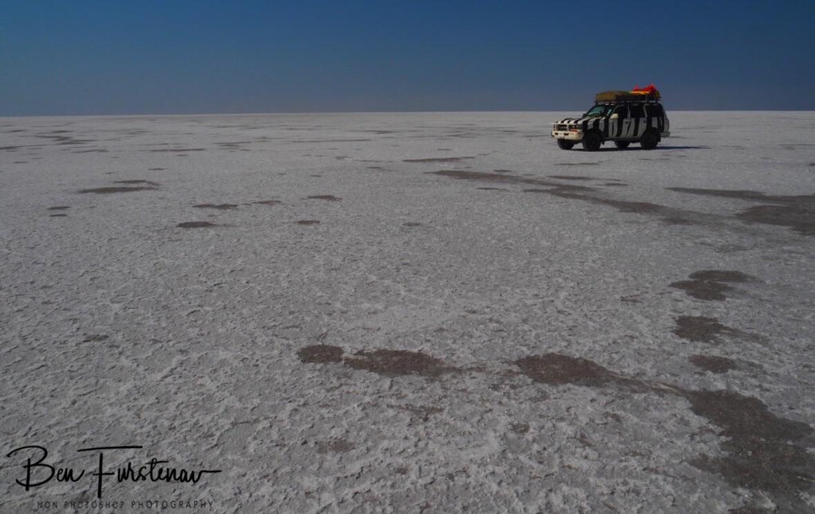Ice or snow? Kubu Island, Makgadikgadi Salt Pans, Botswana