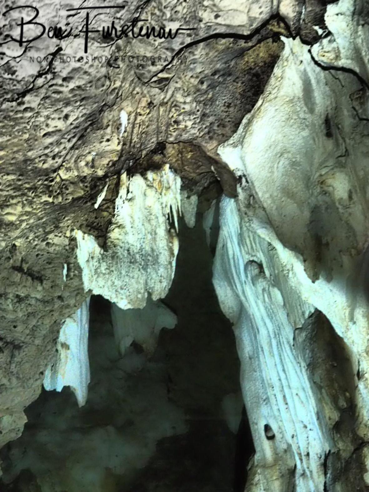 Stalagmites at Drotsky Caves, Kalahari desert, Botswana