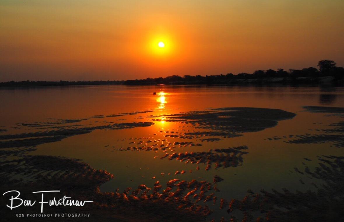 Stunning sunset over the Zambezi River, Katima Mulilo, Namibia