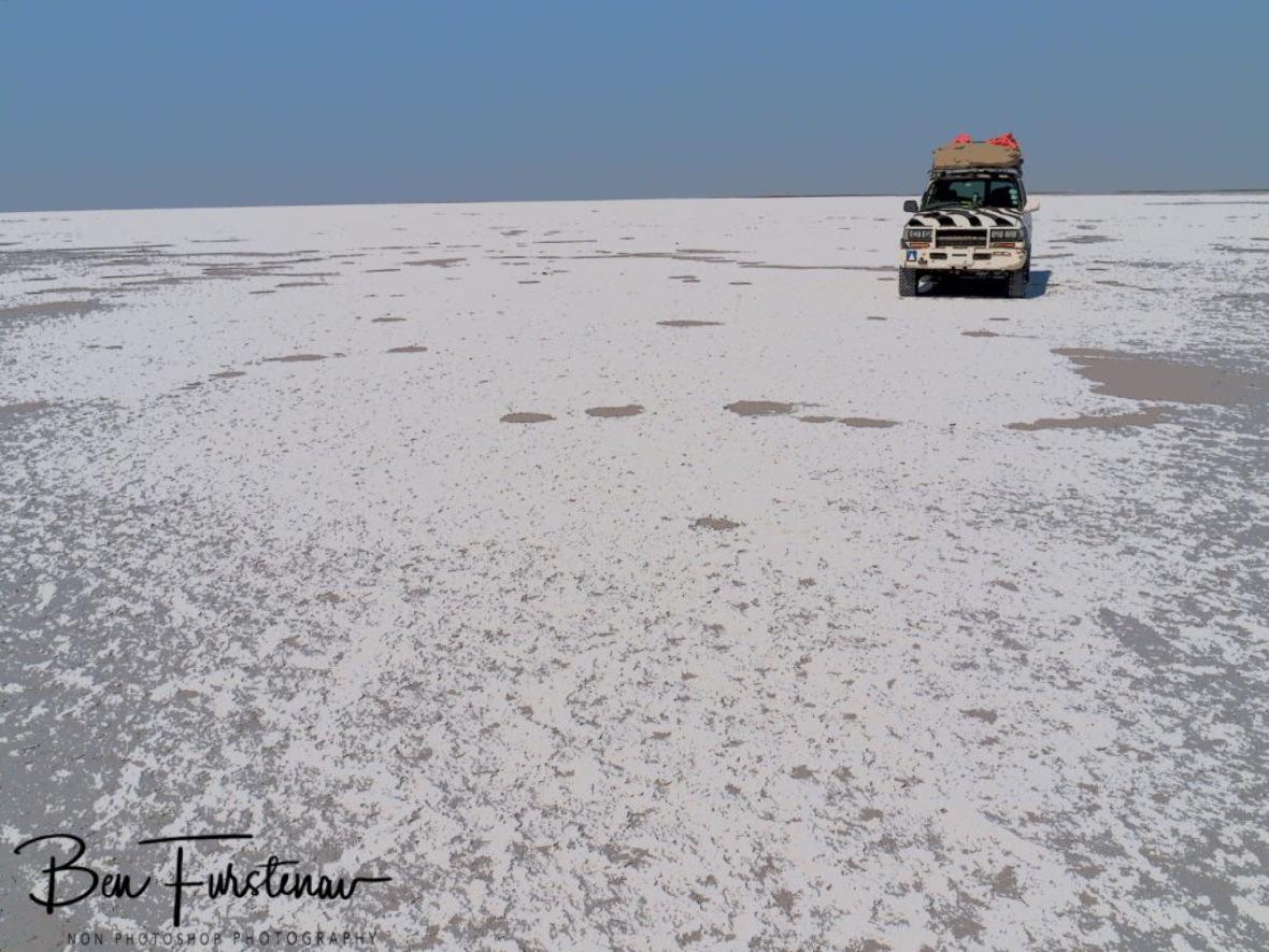 Salty desert, Makgadikgadi Salt Pans, Botswana