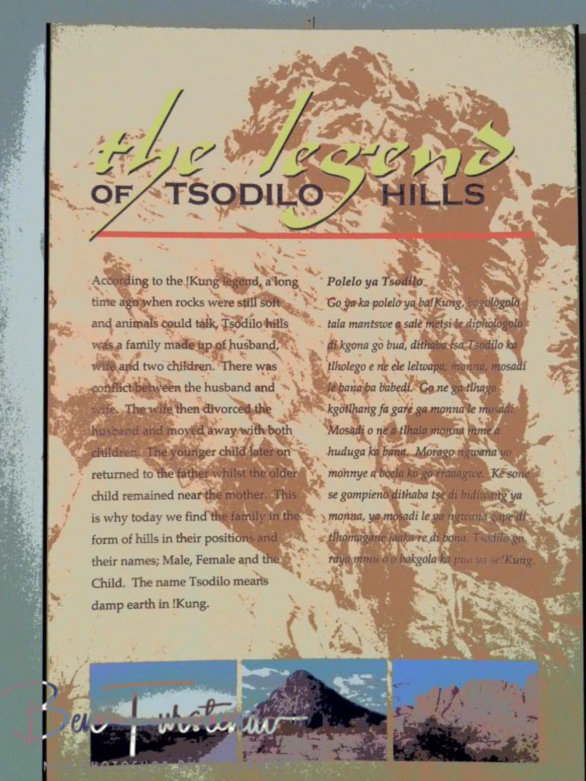 Legendary history, Tsolido Hills, Kalahari desert, Botswana