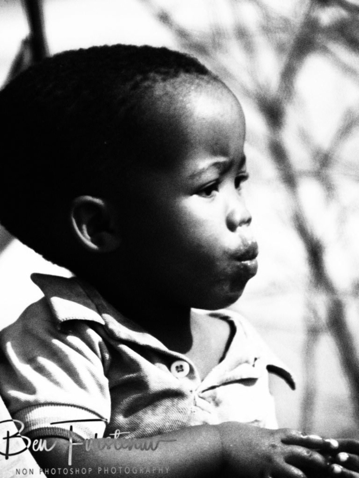 Youngster watching on, Kalahari desert, Botswana