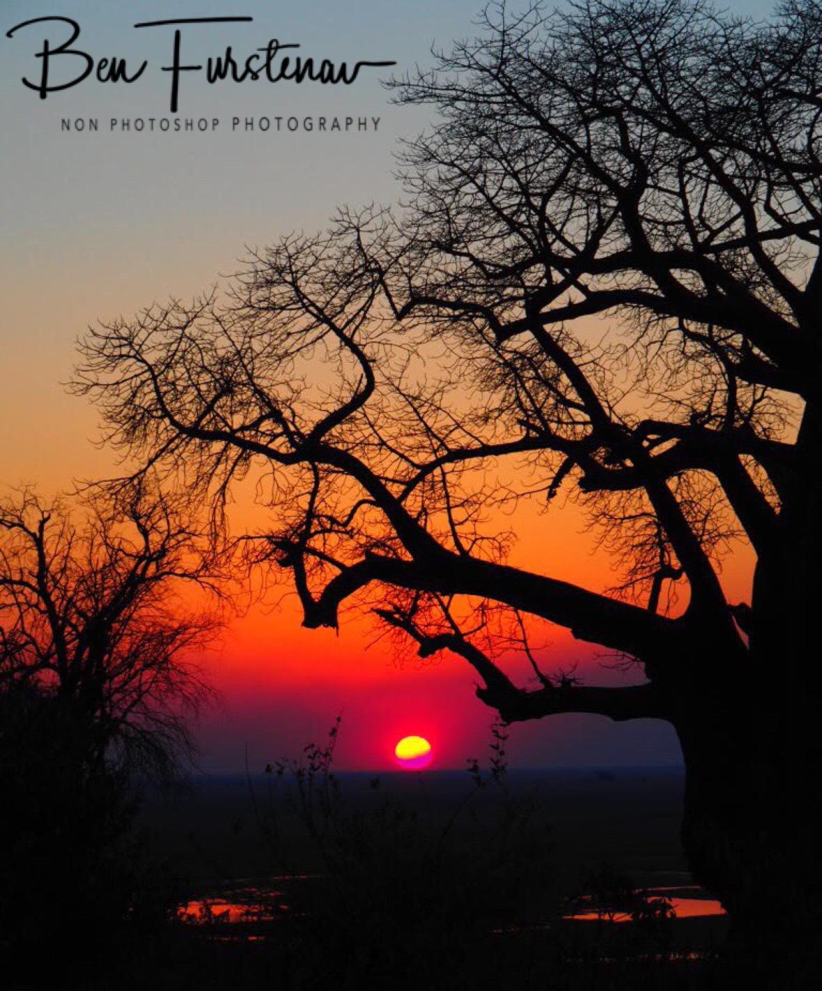 Sunset at his lowest, Okavango Delta, Botswana