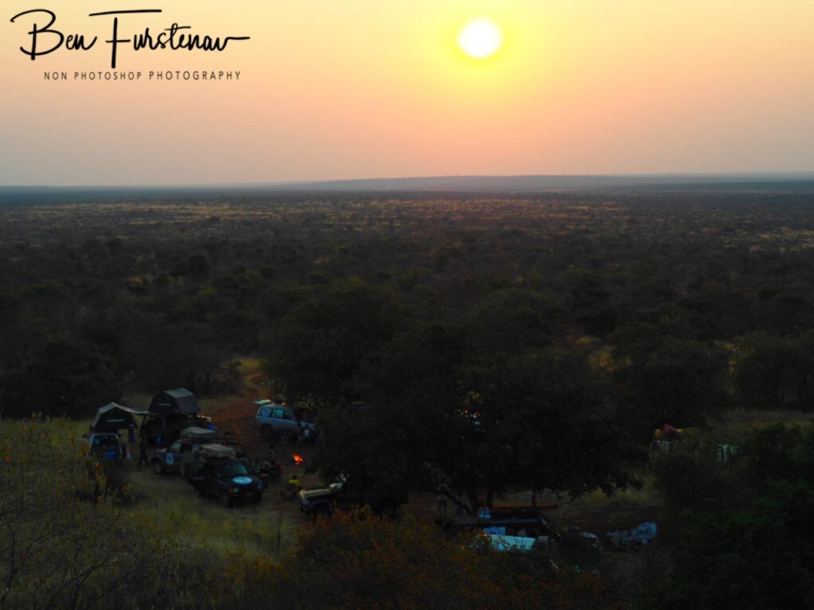 Sunset over the Kalahari desert, Botswana