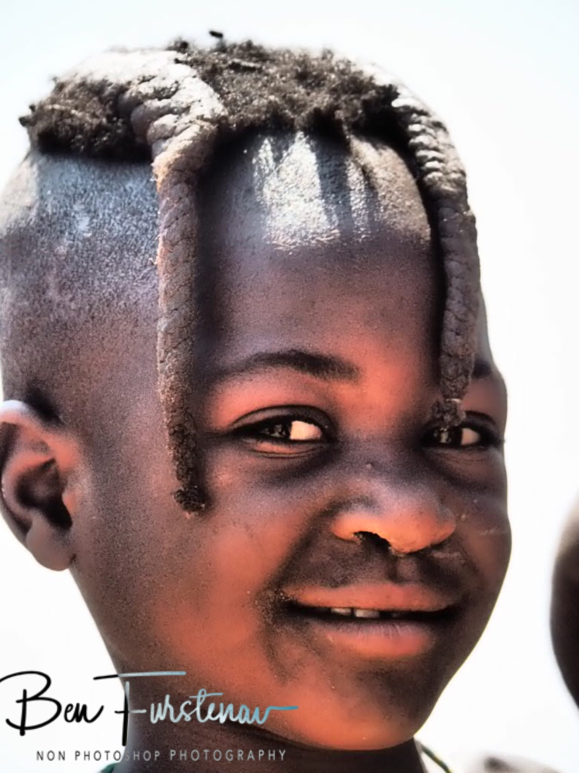 Smiley young girl, Omusaona Himba Village, Kamanjab, Namibia