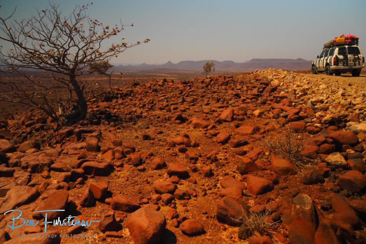 Mission impossible in early days, Groote Berge, Kaokoveld, Namibia