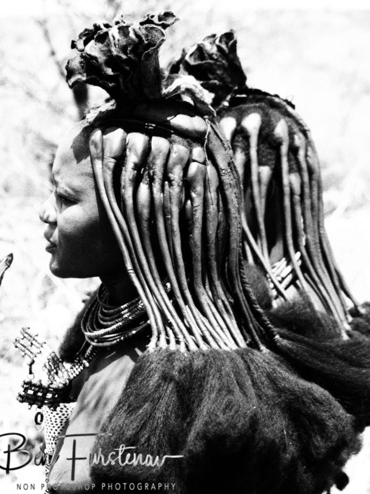 Worrier look?, Omusaona Himba Village, Kamanjab, Namibia