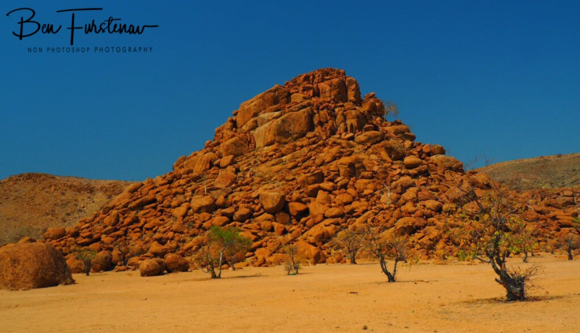 Surreal boulders around Twelvefontain, Brandberg Mountains, Namibia
