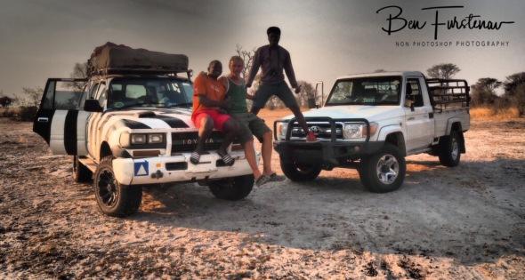 Happy faces all around, Khaudum National Park, Namibia