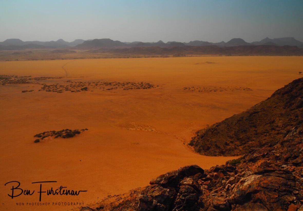 A sand crater view, Damaraland, Namibia
