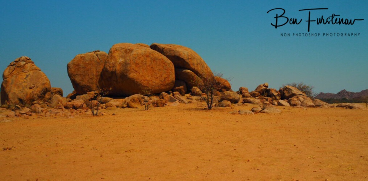 Fascinating boulder formation, Brandberg Mountains, Namibia