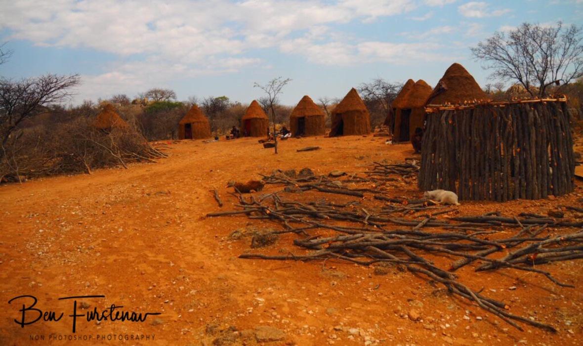 Typical Himba Village setup, Omusaona Himba Village, Kamanjab, Namibia