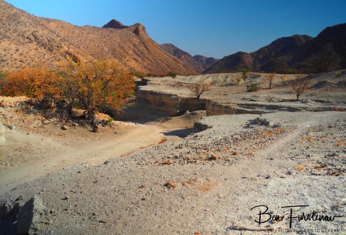 Force off water, Groote Berge, Kaokoveld, Namibia