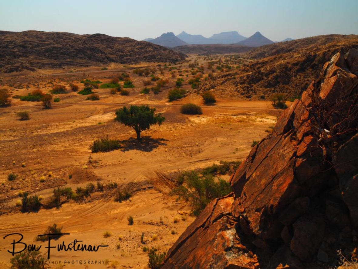 Slate rock mountains, Damaraland, Namibia