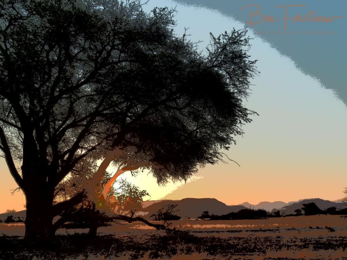 Sunlight slowly fading, Damaraland, Namibia