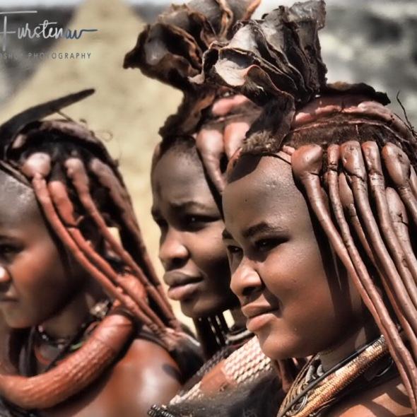 Himba welcome, Omusaona Himba Village, Kamanjab, Namibia