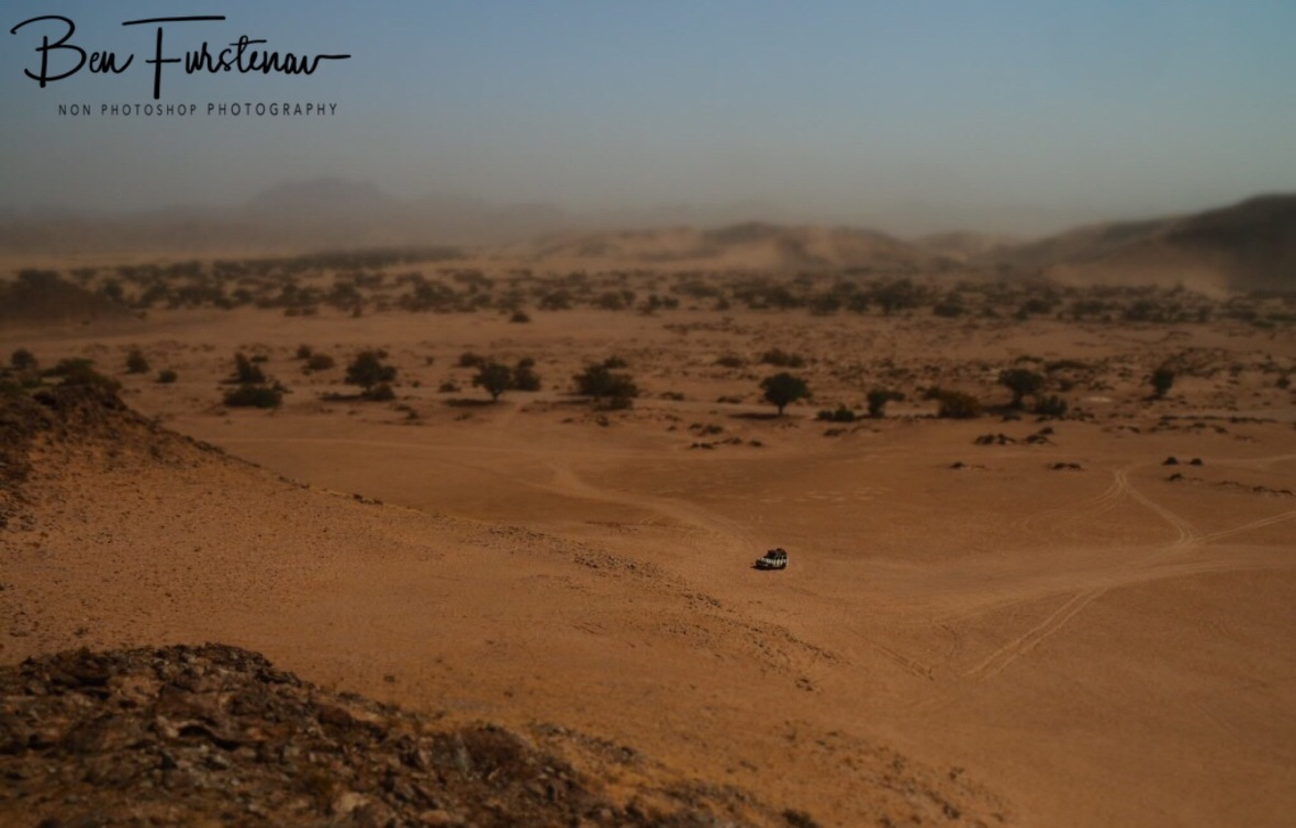 Sandstorm in the distance, Damaraland, Namibia