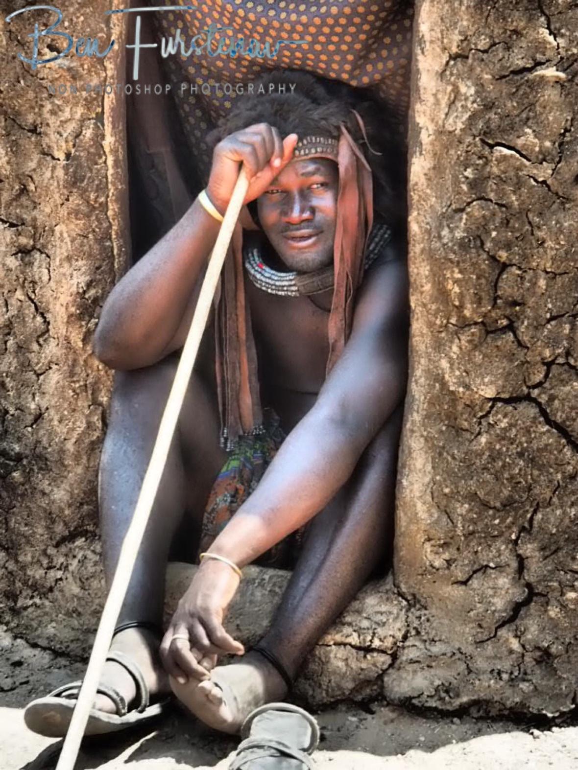 Chief Kabane, Omusaona Himba Village, Kamanjab, Namibia