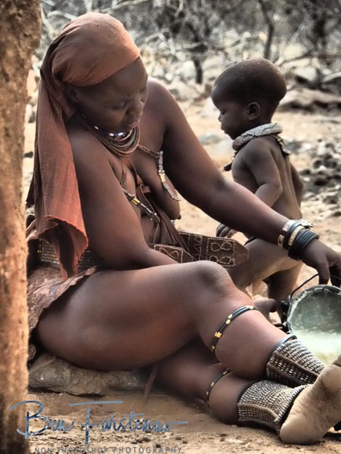 Staple diet, Omusaona Himba Village, Kamanjab, Namibia