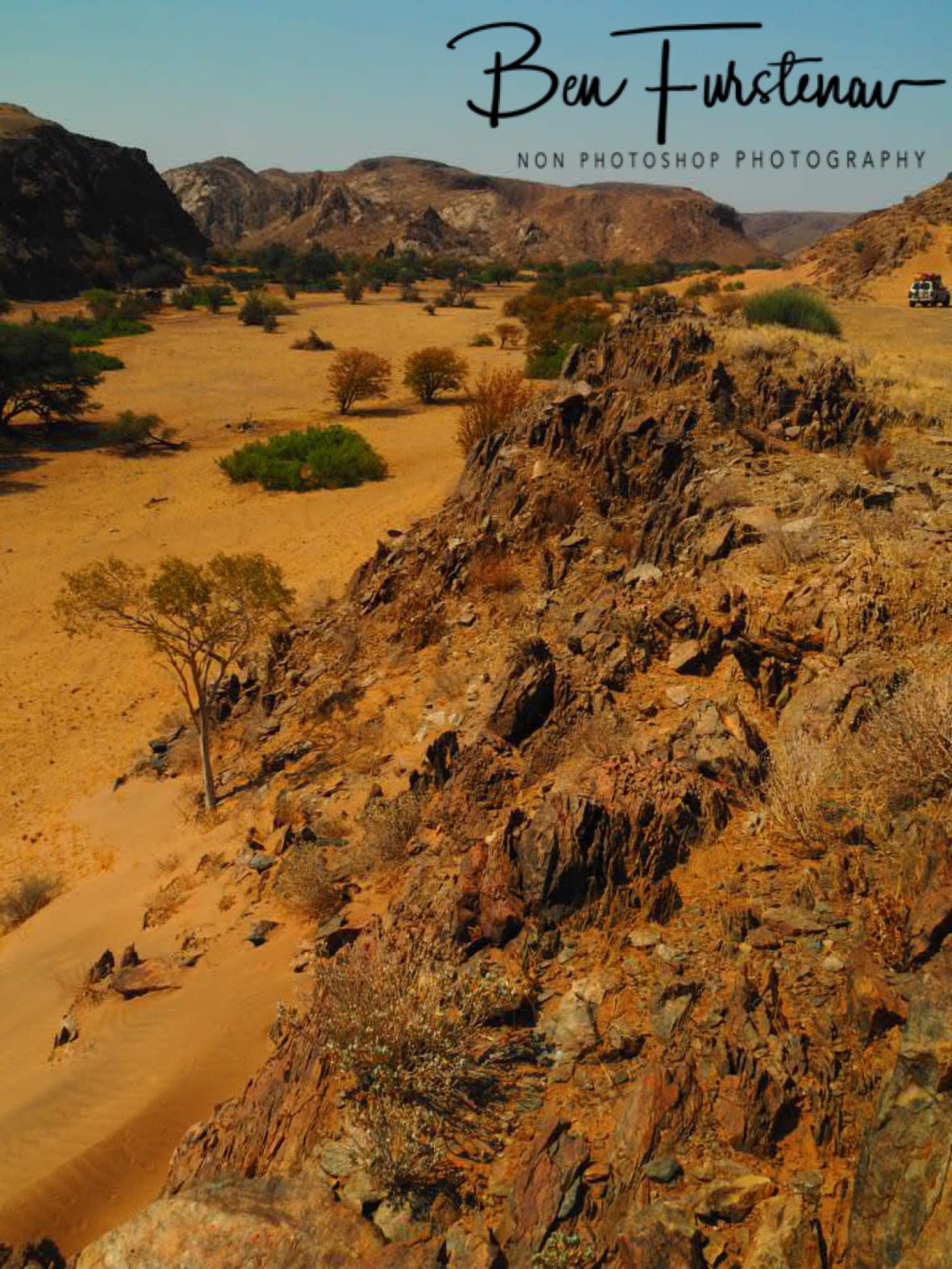 Inland view in eastern direction, Damaraland, Namibia