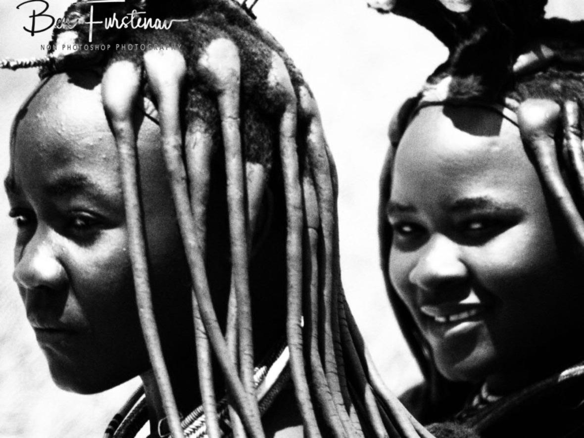 Himba hair beauty, Omusaona Himba Village, Kamanjab, Namibia