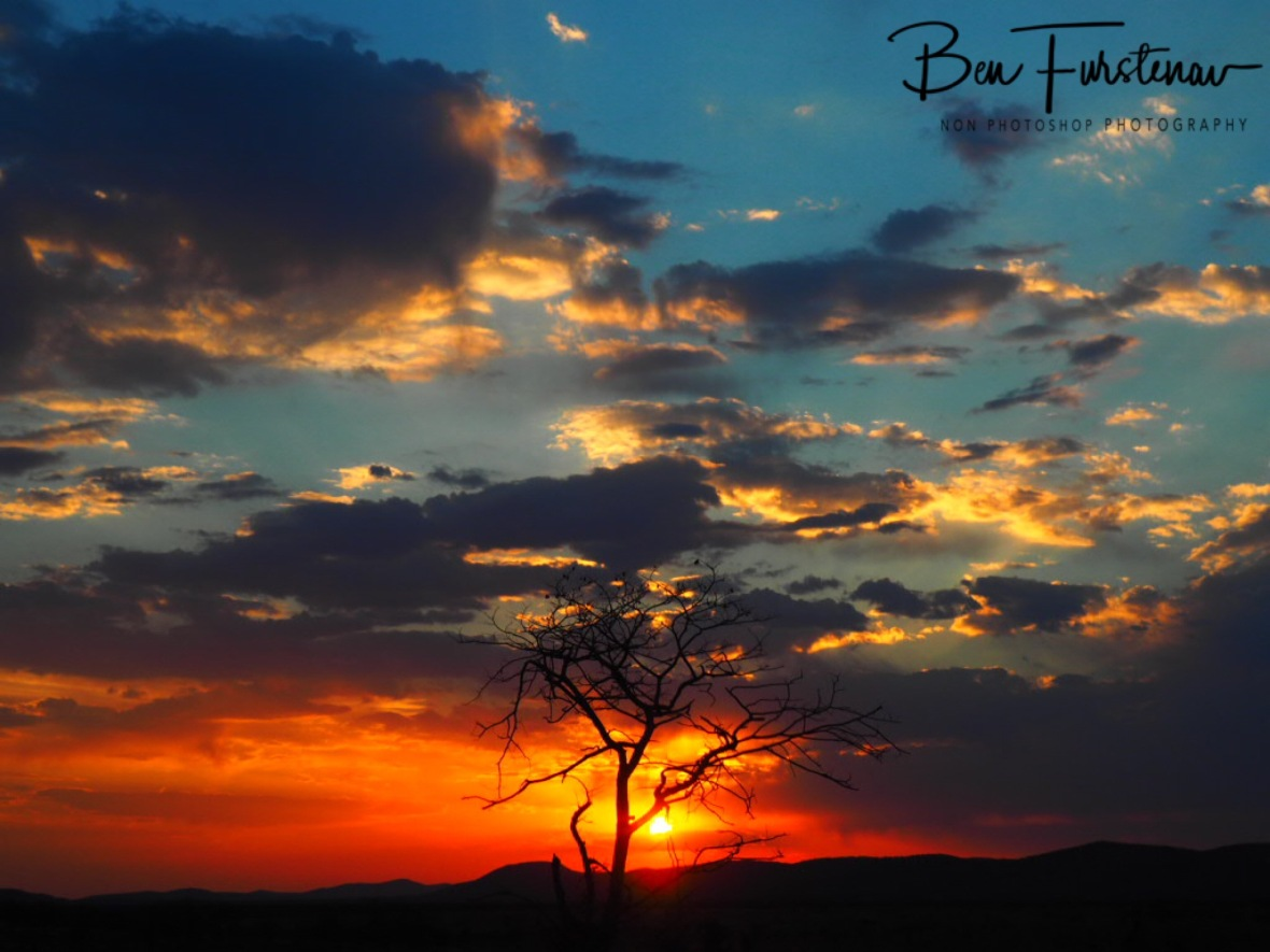 Sunset over Sophienhof, Outjo, Namibia