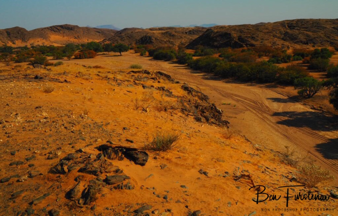 Riverbed in western direction, Damaraland, Namibia