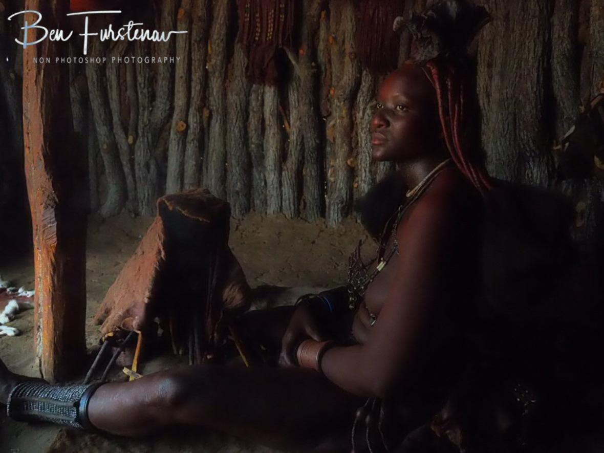 Awoken from dreamland, Omusaona Himba Village, Kamanjab, Namibia