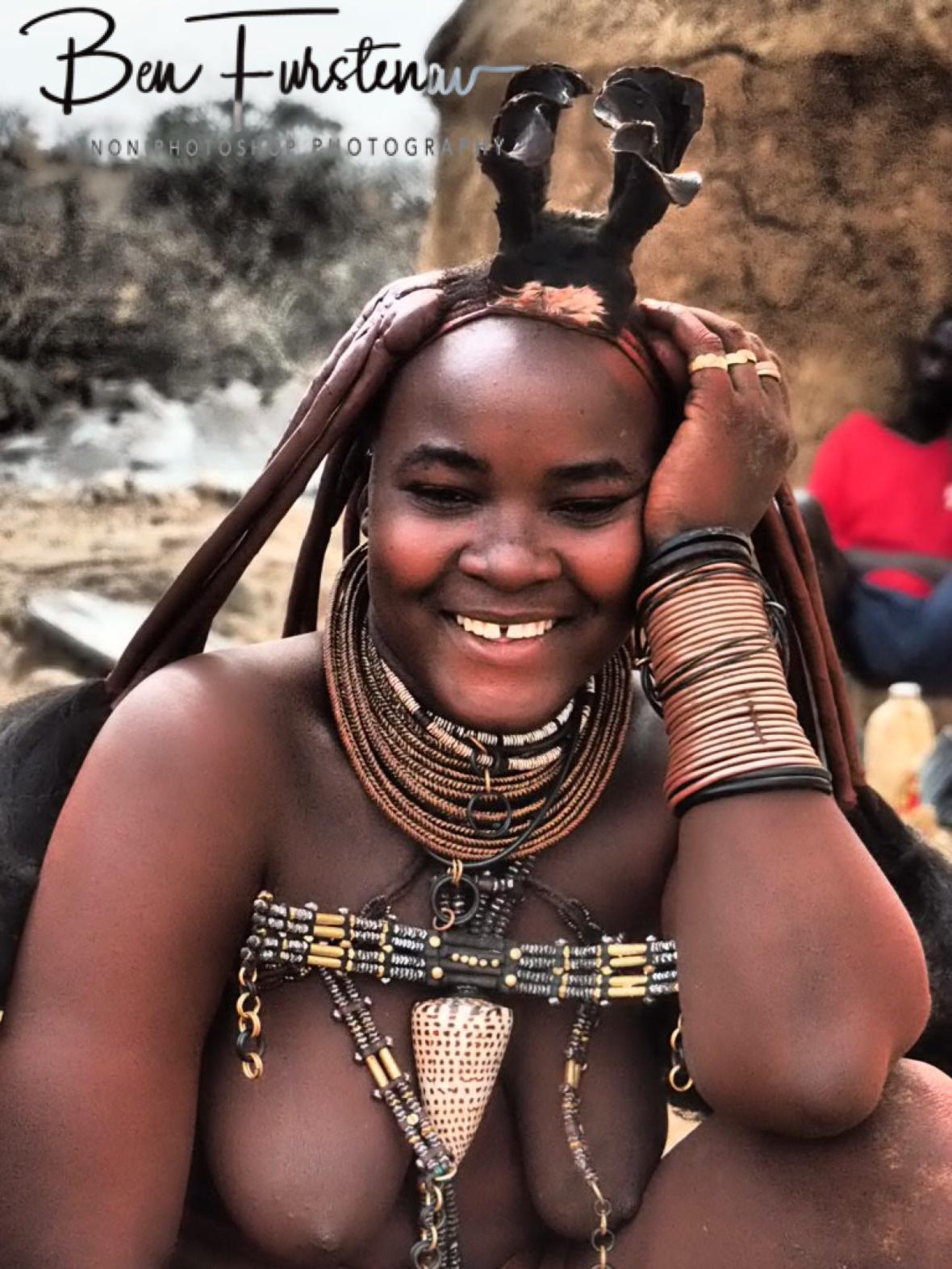 Smiling Himba, I like it, Omusaona Himba Village, Kamanjab, Namibia