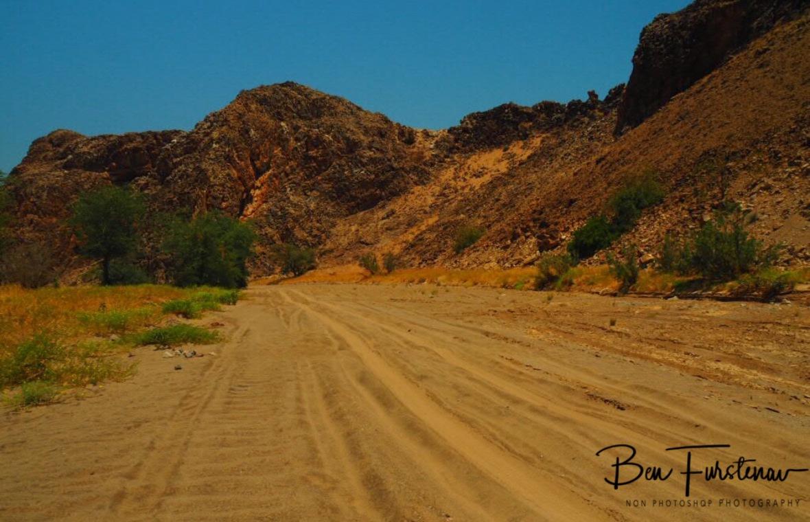 Following the river tracks, Damaraland, Namibia
