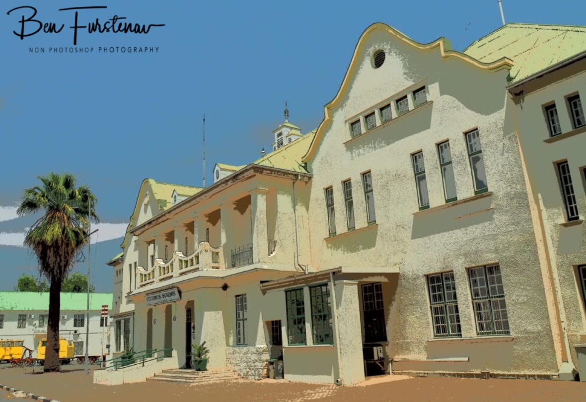 Colonial train station in Windhoek, Namibia