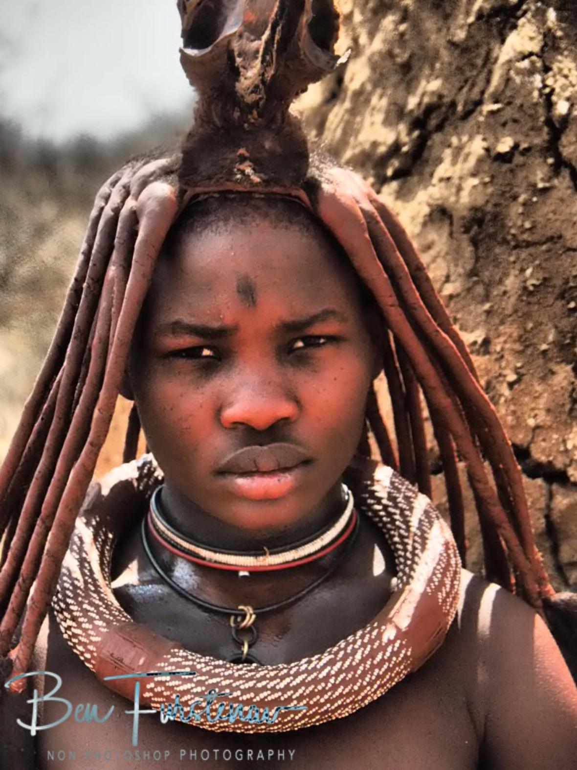 A very serious look, Omusaona Himba Village, Kamanjab, Namibia
