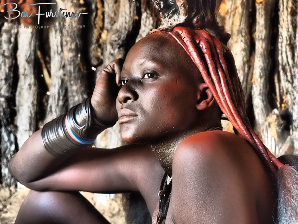 Penny for your thought, Omusaona Himba Village, Kamanjab, Namibia