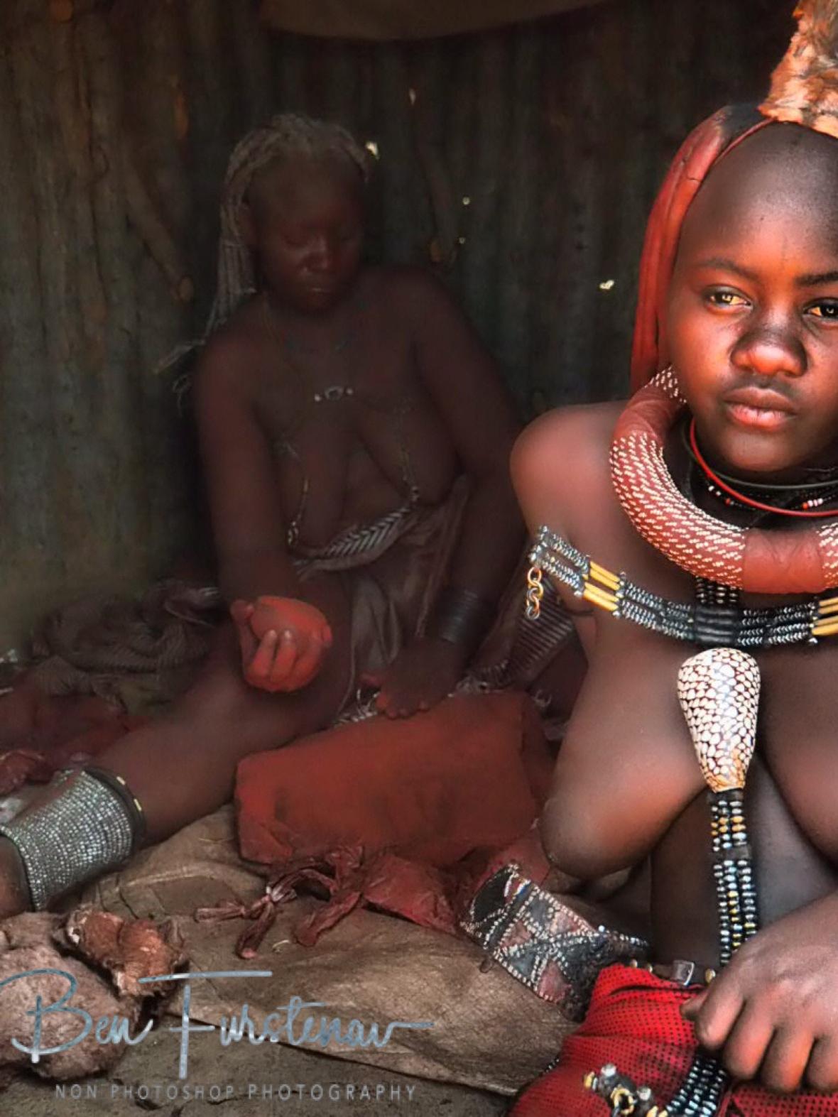 Grinding, Omusaona Himba Village, Kamanjab, Namibia