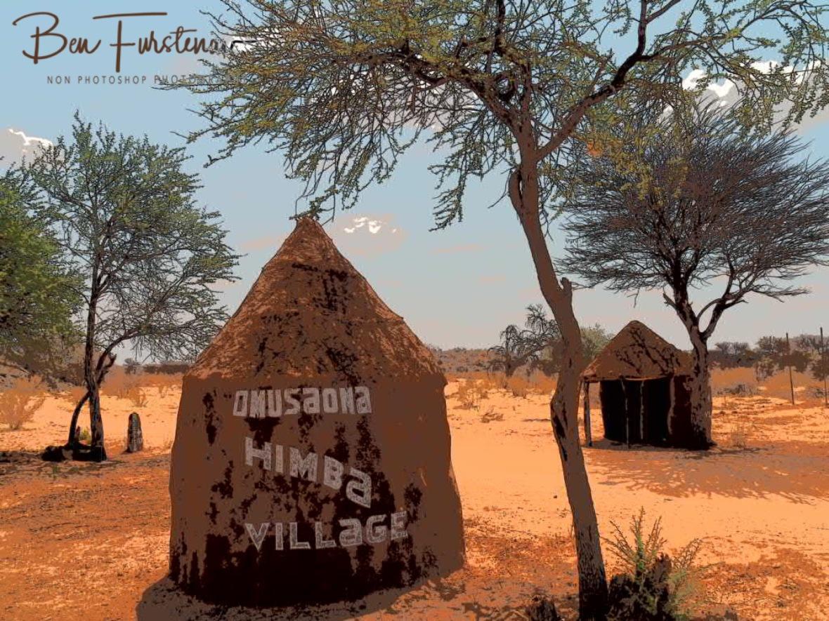 Entry to Omusaona Himba Village, Kamanjab, Namibia