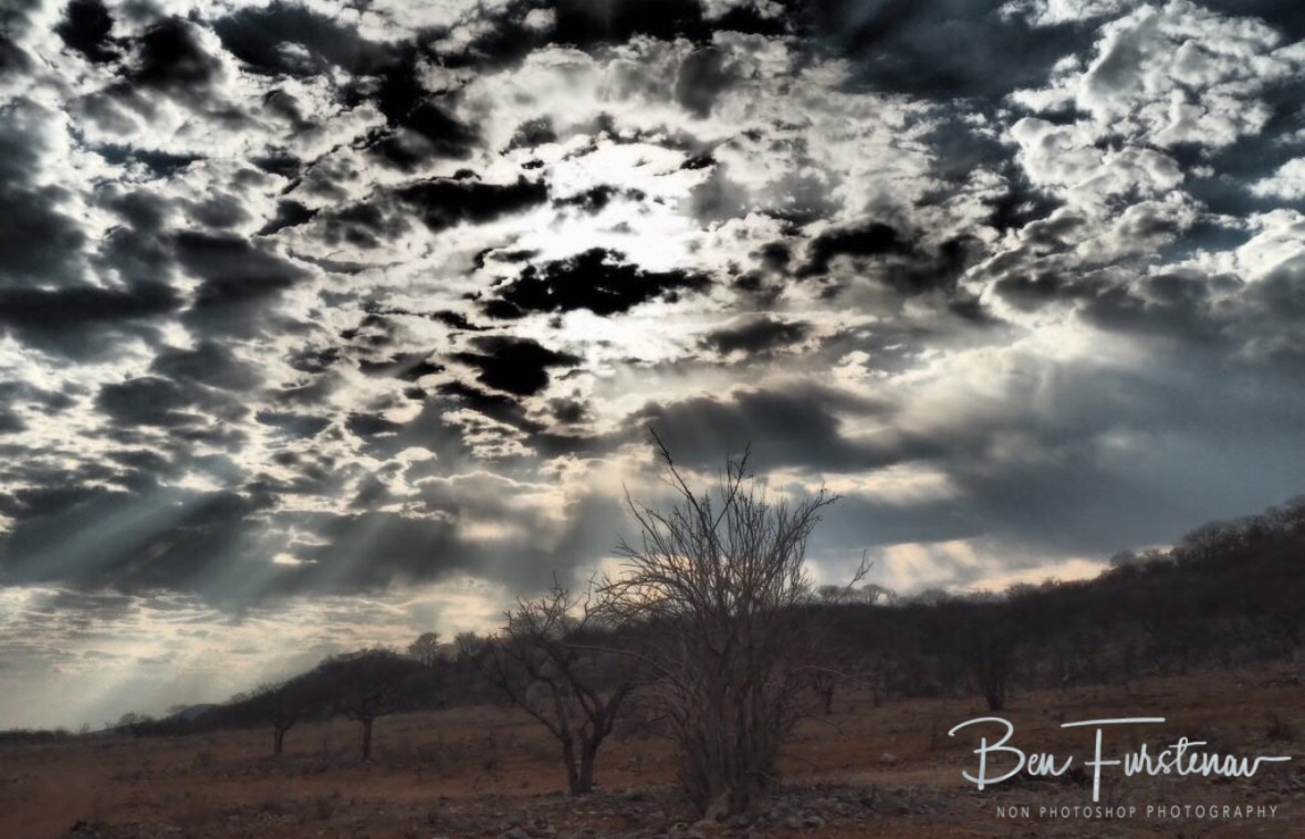 Dramatic cloud formation, Sophienhof, Outjo, Namibia