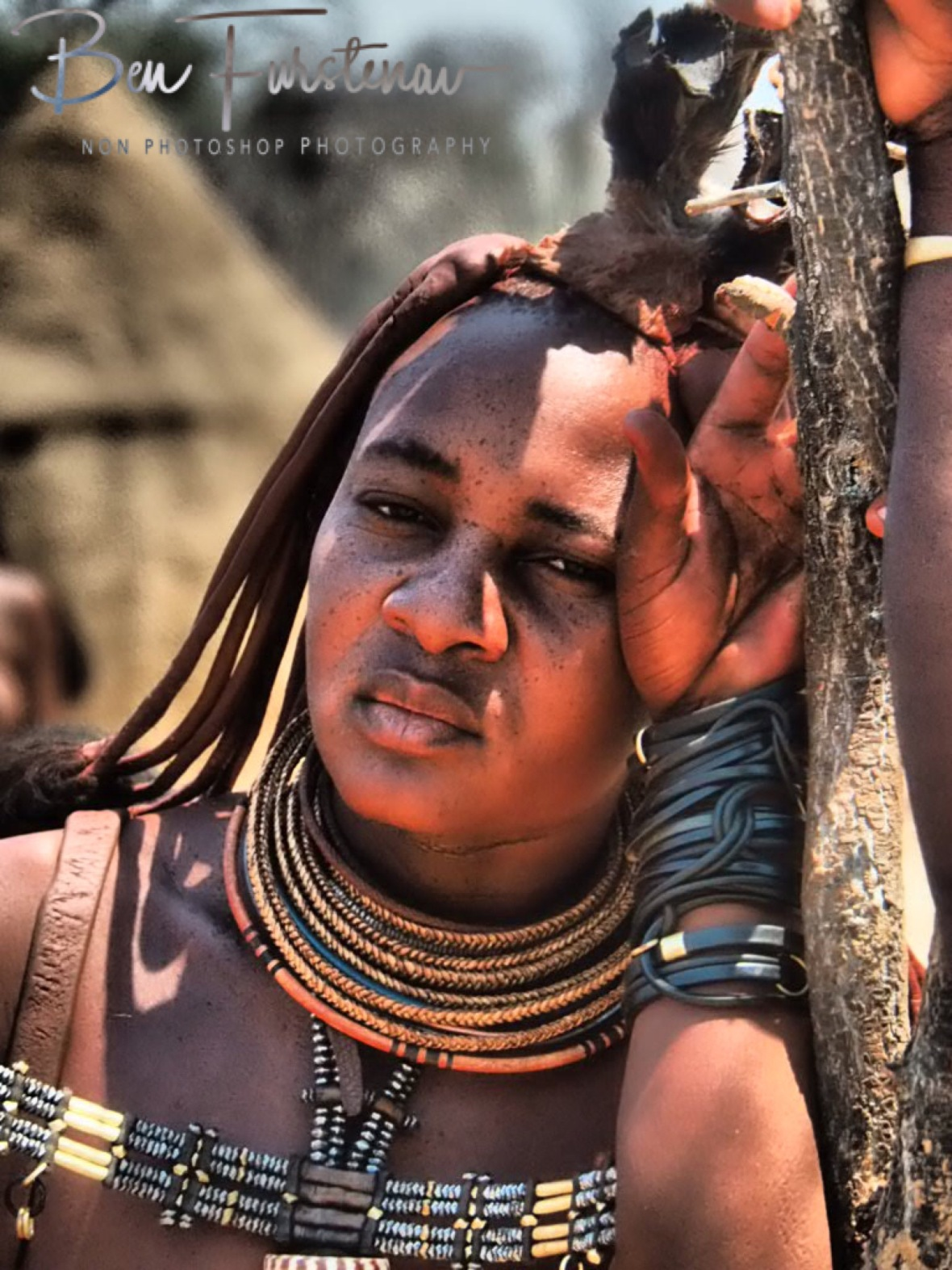 Copper and beaded jewellery, Omusaona Himba Village, Kamanjab, Namibia